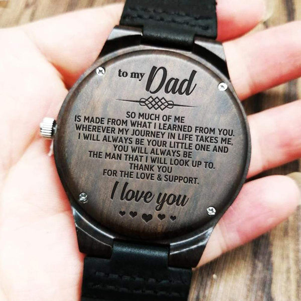 To My Dad - Wood Watch - WH-DF20B261