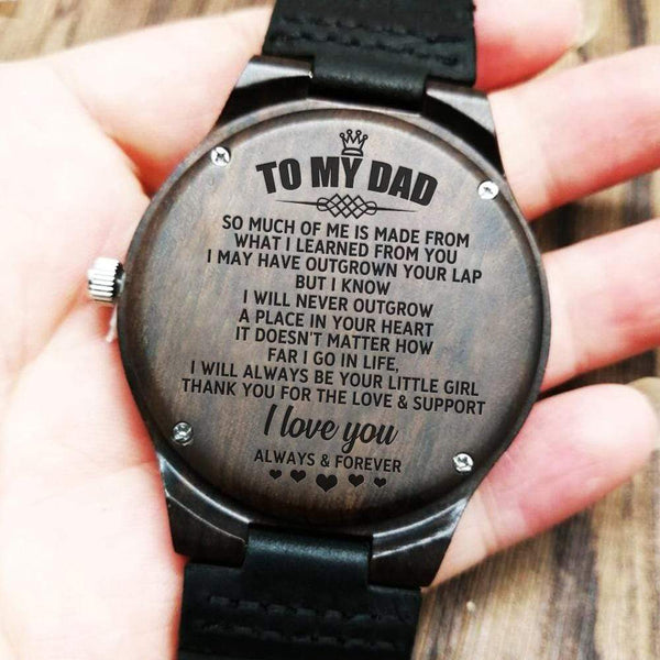 To My Dad - Wood Watch - WH-DF20B270
