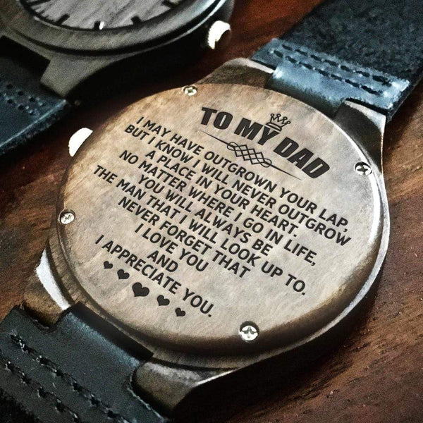 To My Dad - Wood Watch - WH-DF20B277