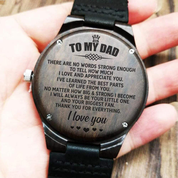 To My Dad - Wood Watch - WH-DF20B278