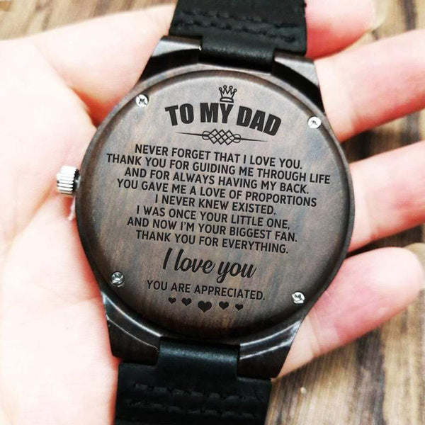 To My Dad - Wood Watch - WH-DF20B281