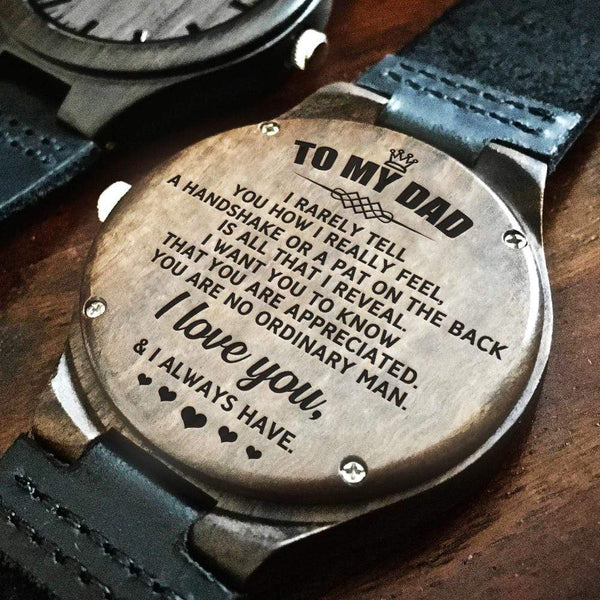 To My Dad - Wood Watch - WH-DF20B290