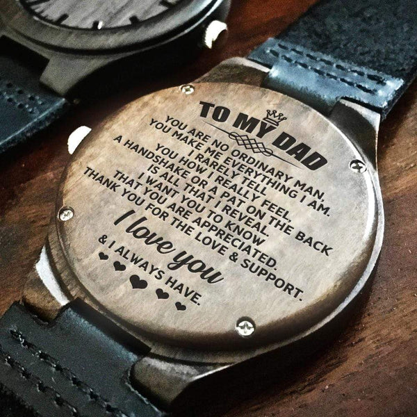 To My Dad - Wood Watch - WH-DF20B294