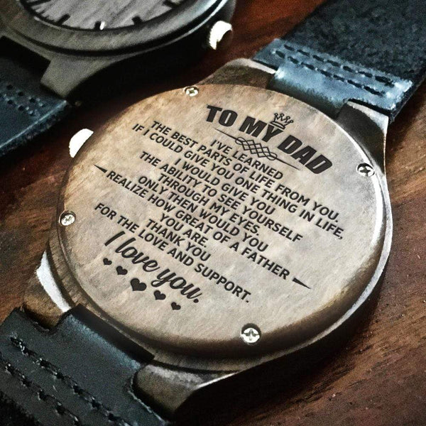 To My Dad - Wood Watch - WH-DF20B300