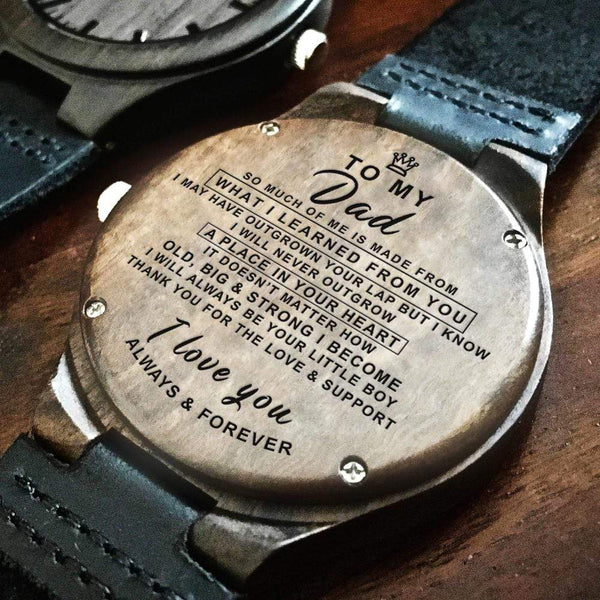 To My Dad - Wood Watch - WH-DF20B86