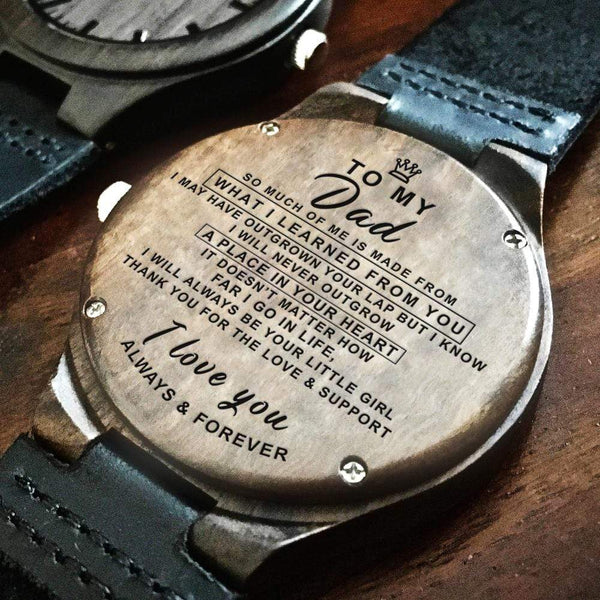 To My Dad - Wood Watch - WH-DF20B95