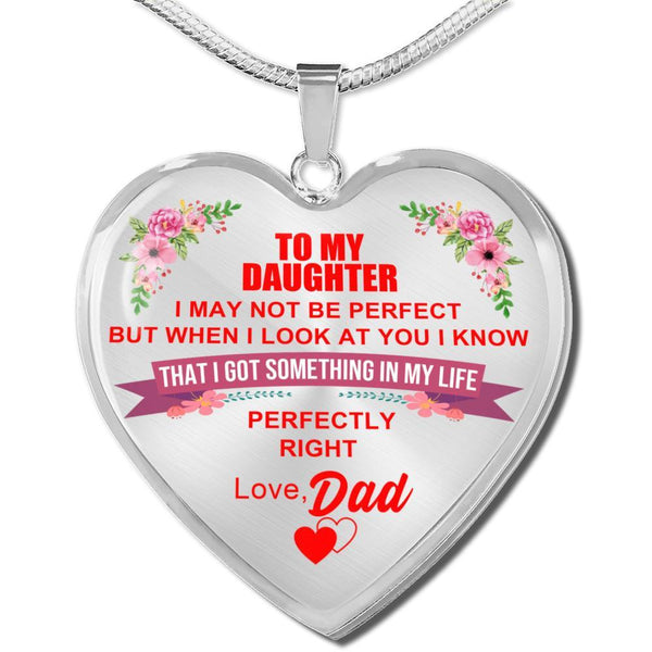To My Daughter - FBHD07 - Heart Necklace