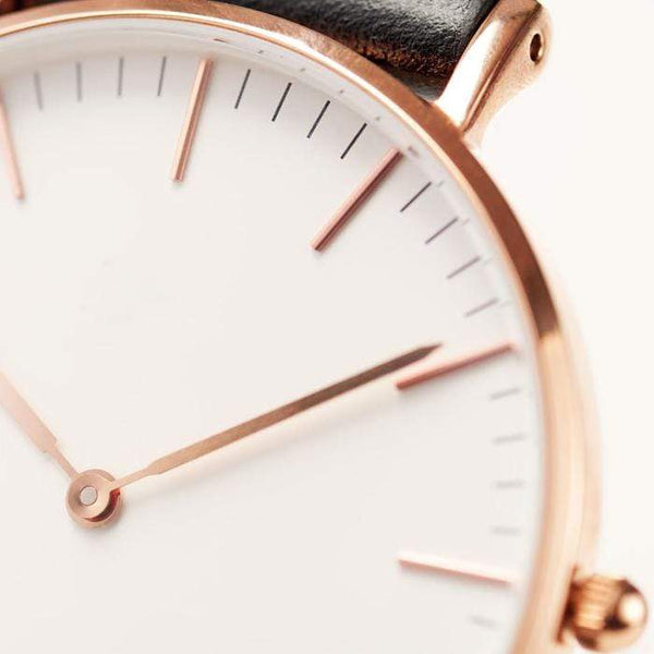 To My Daughter - From Dad - Rose-Gold Classic Minimalist Watch - WHSTP01R-B-01