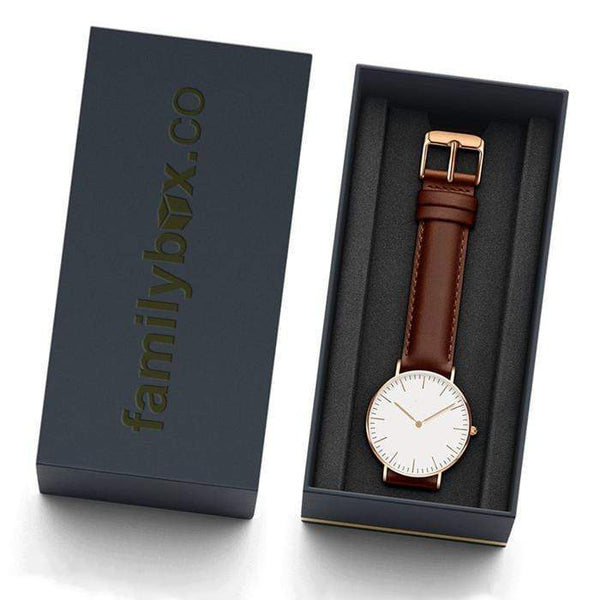 To My Daughter - From Mom - Rose-Gold Classic Minimalist Watch - WHSTP01R-B-02