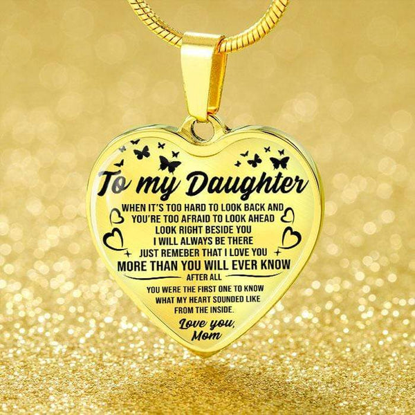 To My Daughter - Heart Necklace - FBHD44
