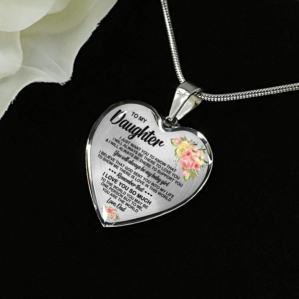 To My Daughter - Love Necklace - FBHD69