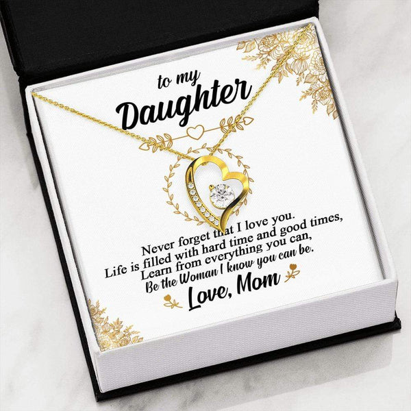 To My Daughter - LoveCube Heart Necklace - SO44