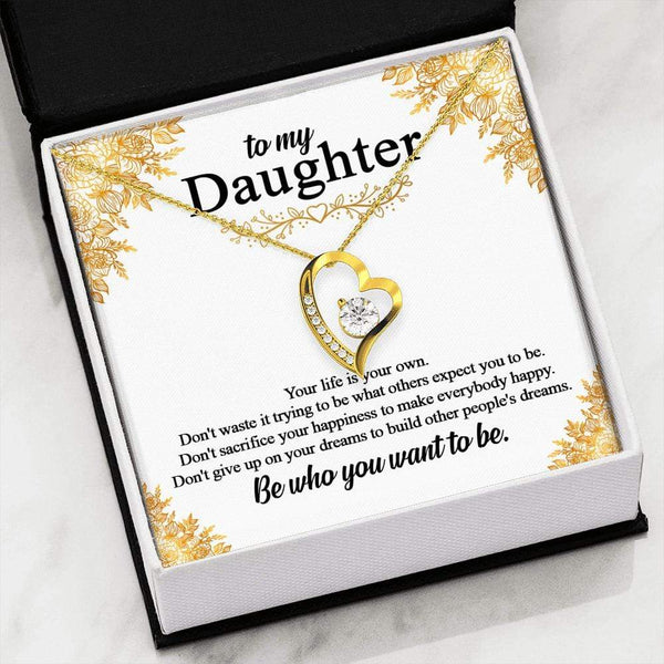 To My Daughter - LoveCube Heart Necklace - SO48