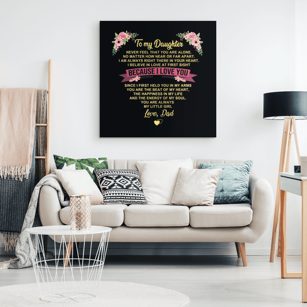 To My Daughter - Premium Canvas Wall Art - WA07