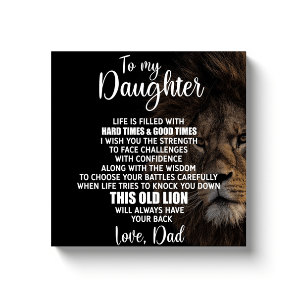 To My Daughter - Premium Canvas Wrap - CW12