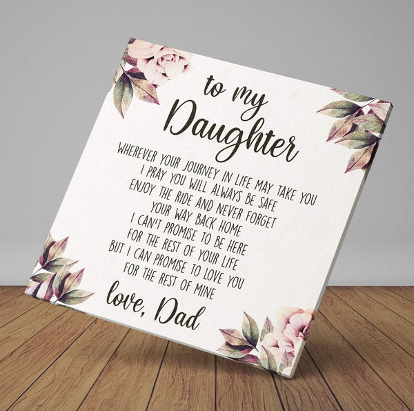 To My Daughter - Premium Canvas Wrap - CW19
