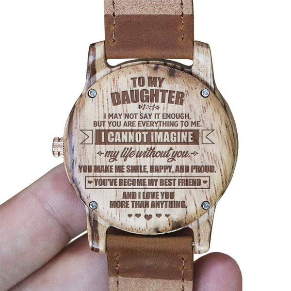 To My Daughter - Vanilla Rose Wood Watch - WH-DF25-09