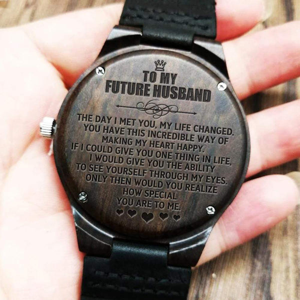 To My Future Husband - Wood Watch - WH-DF20B235