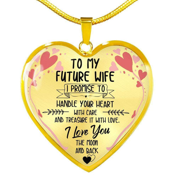 To My Future Wife - Heart Necklace - FBHD36