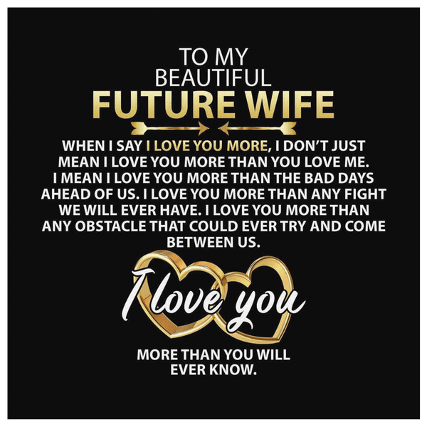 To My Future Wife - Premium Canvas Wall Art - WA12