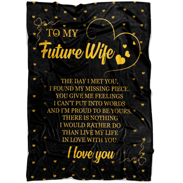 To My Future Wife - Premium Fleece Blanket - TLBL38