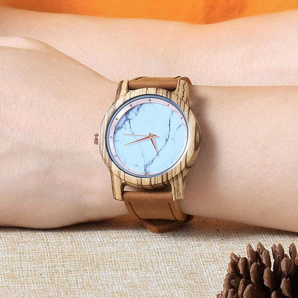 To My Future Wife - Rose Gold Zebrawood Watch - WH-DF25-24