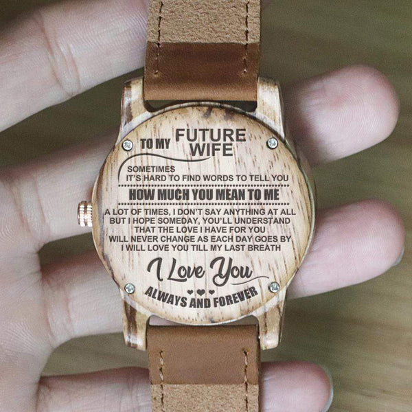 To My Future Wife - Vanilla Rose Wood Watch - WH-DF25-03