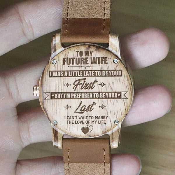 To My Future Wife - Vanilla Rose Wood Watch - WH-DF25-05