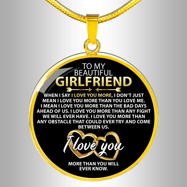 To My Girlfriend - Love Necklace - FBCD03