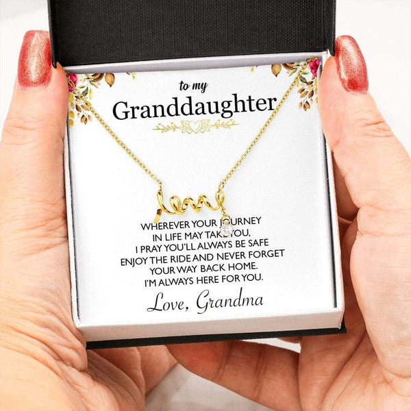 To My Granddaughter - Grandma - Love Necklace - SO164