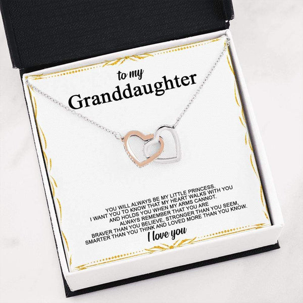 To My Granddaughter - Interlocked Hearts LoveCube - 259