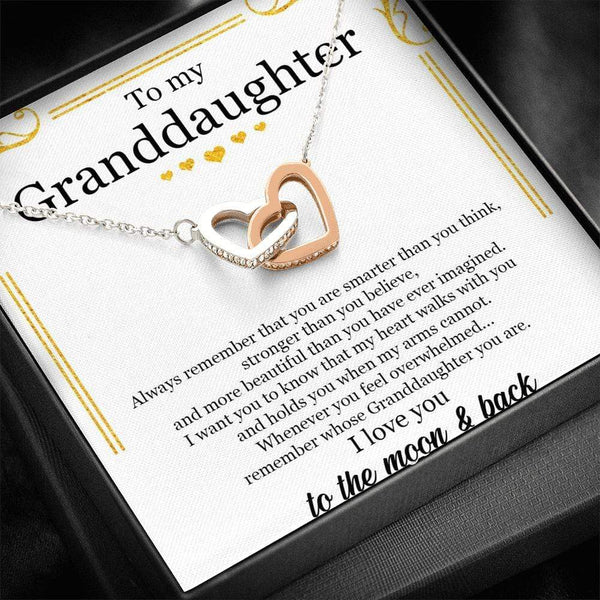 To My Granddaughter - Interlocking Hearts - SO477