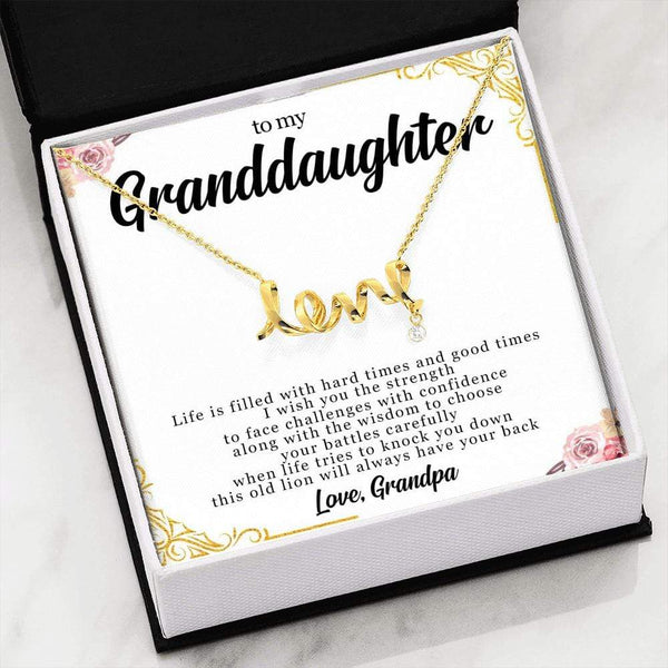 To My Granddaughter - Love Grandpa - Love Necklace - SO325
