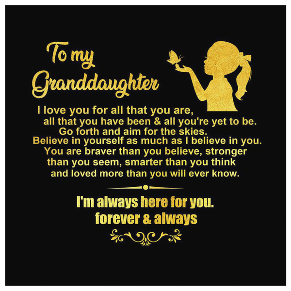 To My Granddaughter - Premium Canvas Wall Art - WA05