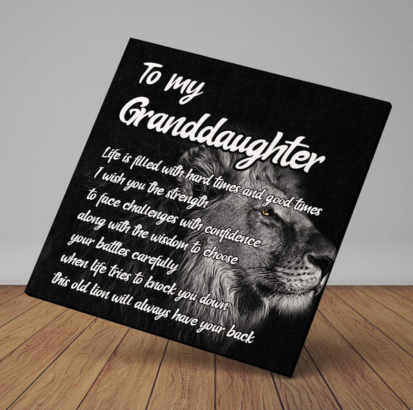 To My Granddaughter - Premium Canvas Wrap - CW28