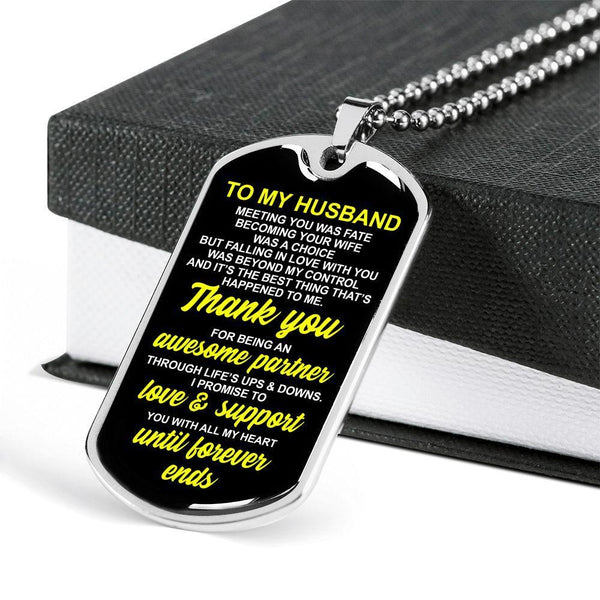 To My Husband - Love Tag - FBDT01
