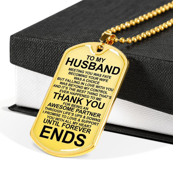 To My Husband - Love Tag - FBDT02
