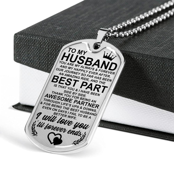 To My Husband - Love Tag - FBDT07
