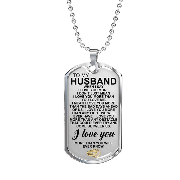 To My Husband - Love Tag - FBDT16 *SHIPS IN 2 DAYS