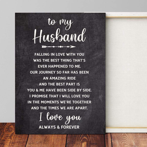 To My Husband - Premium Canvas Wrap - CW15