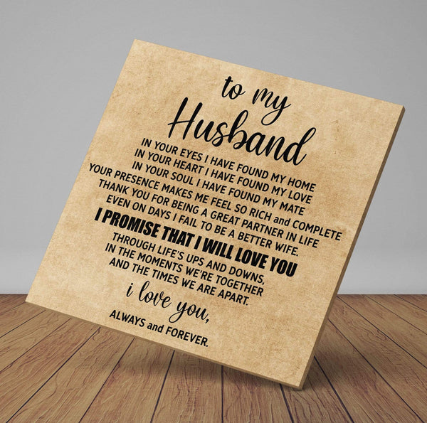 To My Husband - Premium Canvas Wrap - CW26