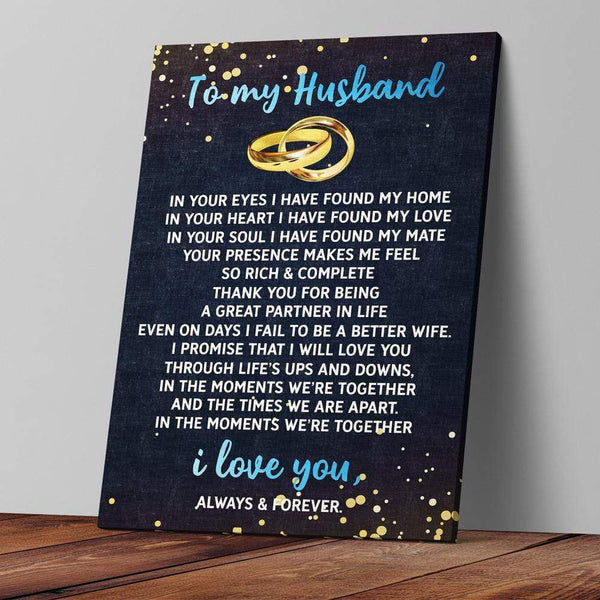 To My Husband - Premium Canvas Wrap - CW36
