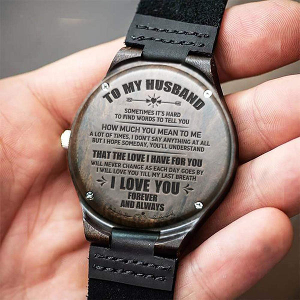 To My Husband Wood Watch - WH-DF20B160