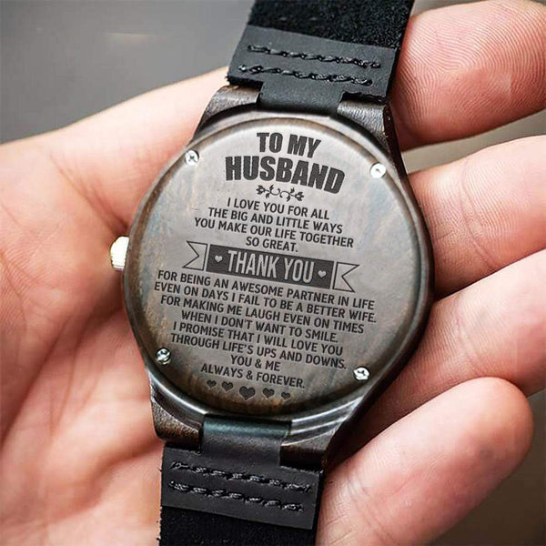 To My Husband - Wood Watch - WH-DF20B173