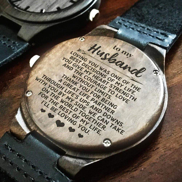 To My Husband - Wood Watch - WH-DF20B203