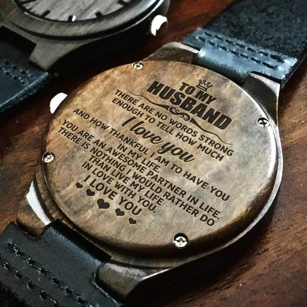 To My Husband - Wood Watch - WH-DF20B240