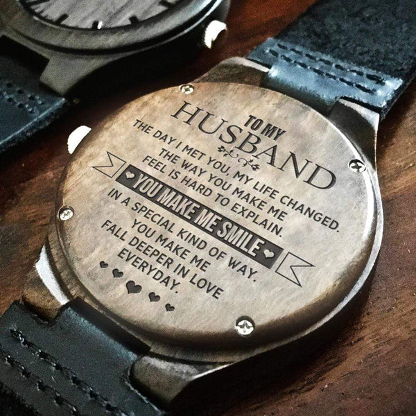 To My Husband - Wood Watch - WH-DF20B265