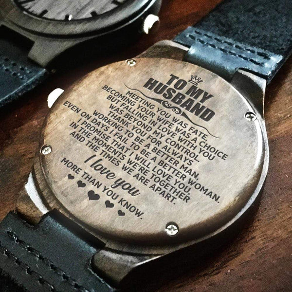 To My Husband - Wood Watch - WH-DF20B268