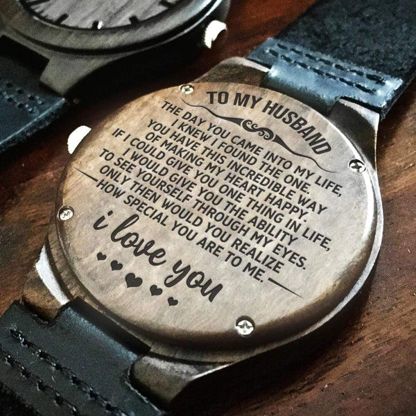 To My Husband - Wood Watch - WH-DF20B286