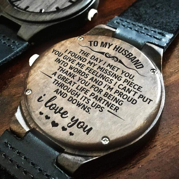 To My Husband - Wood Watch - WH-DF20B287
